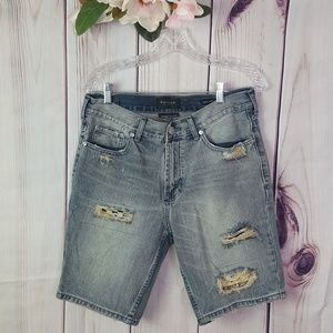 Pac Sun | Distressed Frayed Jean Shorts